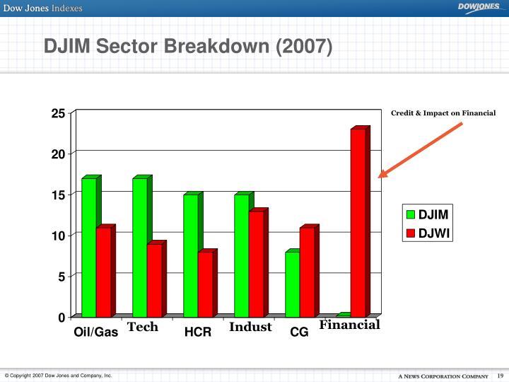 DJIM Sector Breakdown (2007)