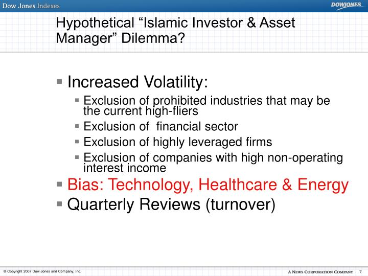"""Hypothetical """"Islamic Investor & Asset Manager"""" Dilemma?"""