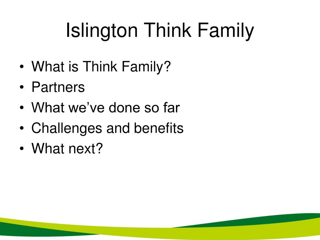 Islington Think Family