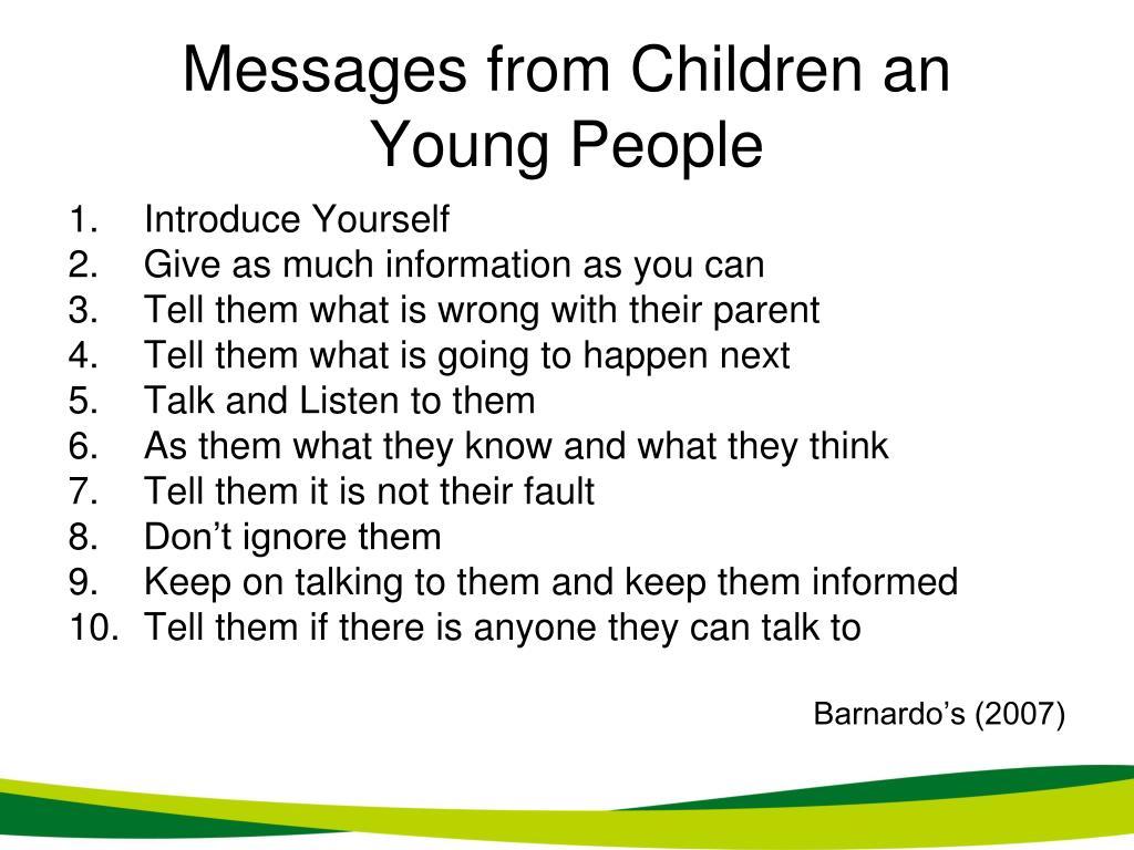 Messages from Children an