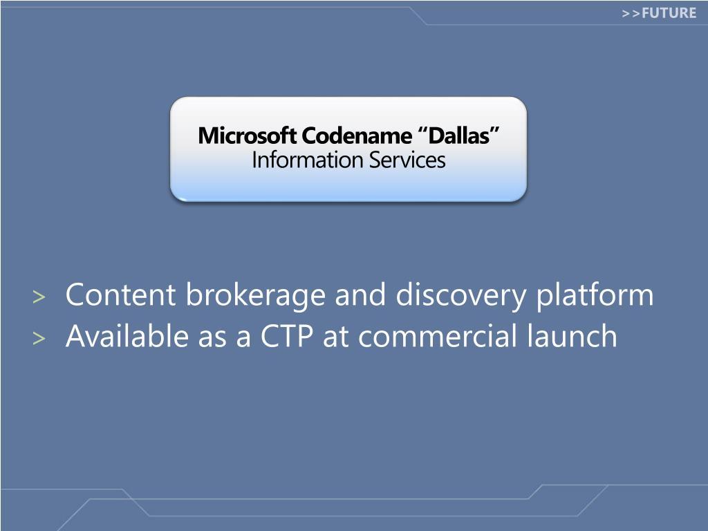 """Microsoft Codename """"Dallas"""""""