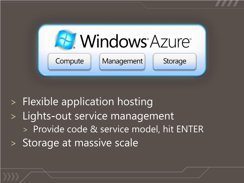 Flexible application hosting