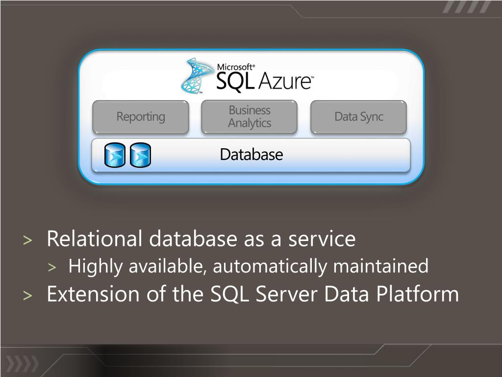 Relational database as a service