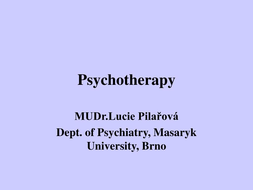 psychotherapy l.