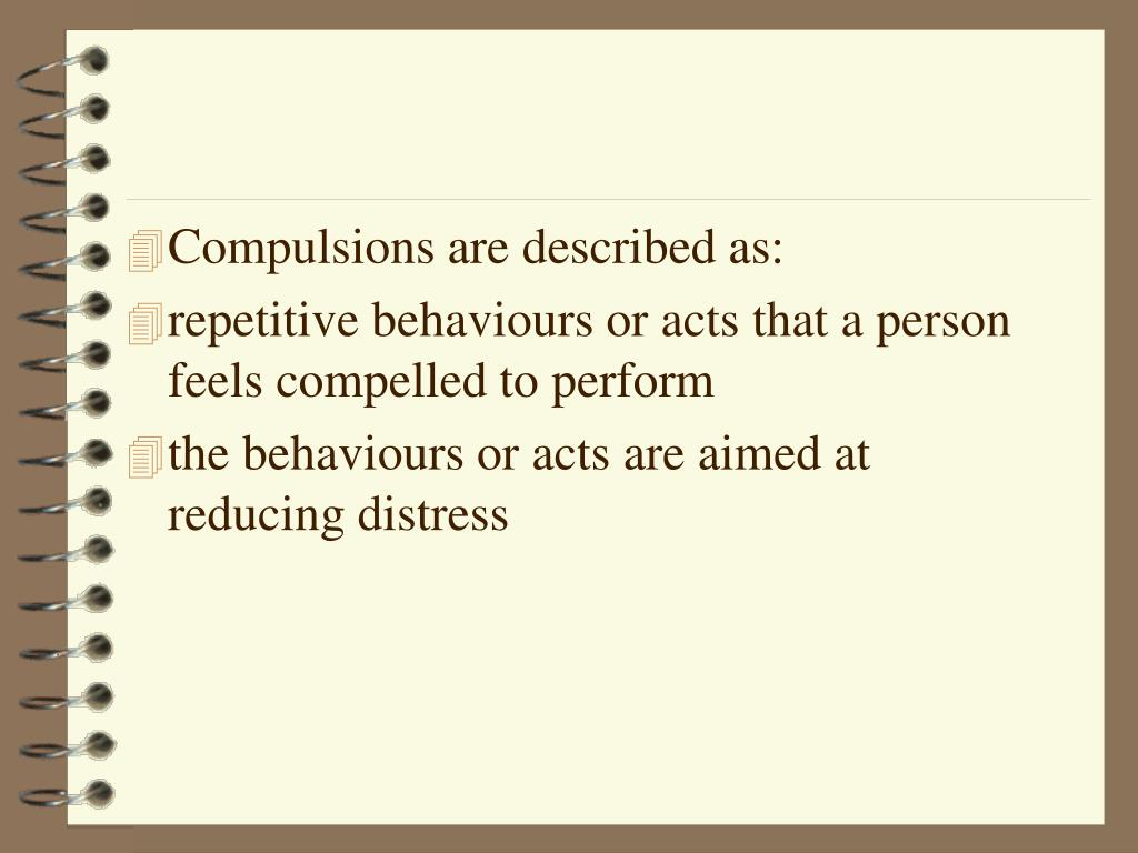 Compulsions are described as: