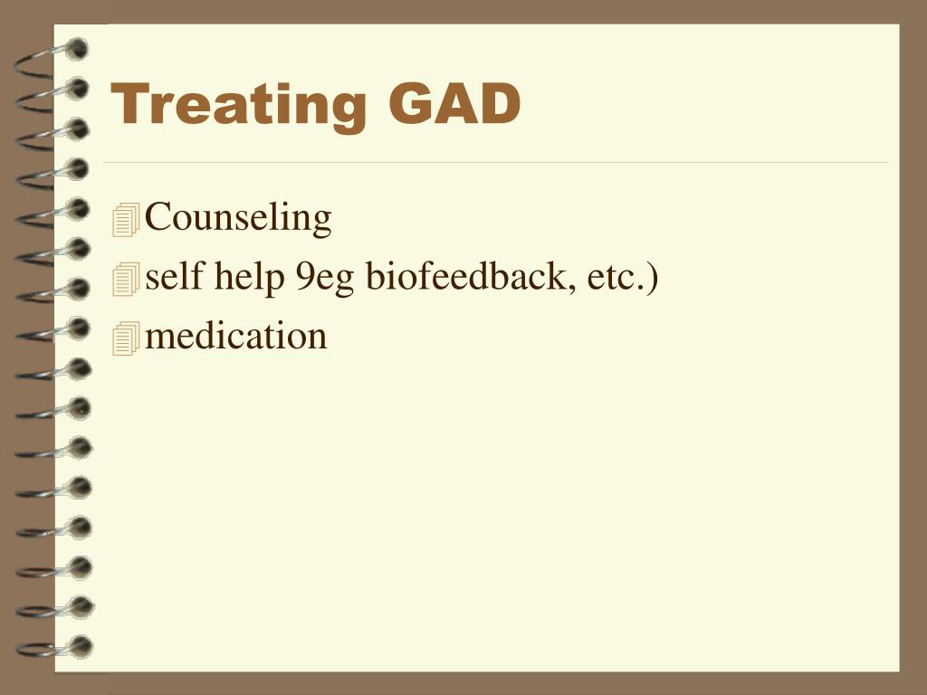 Treating GAD