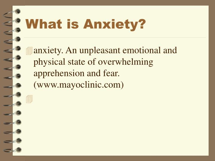 What is anxiety