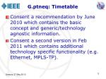 g ptneq timetable