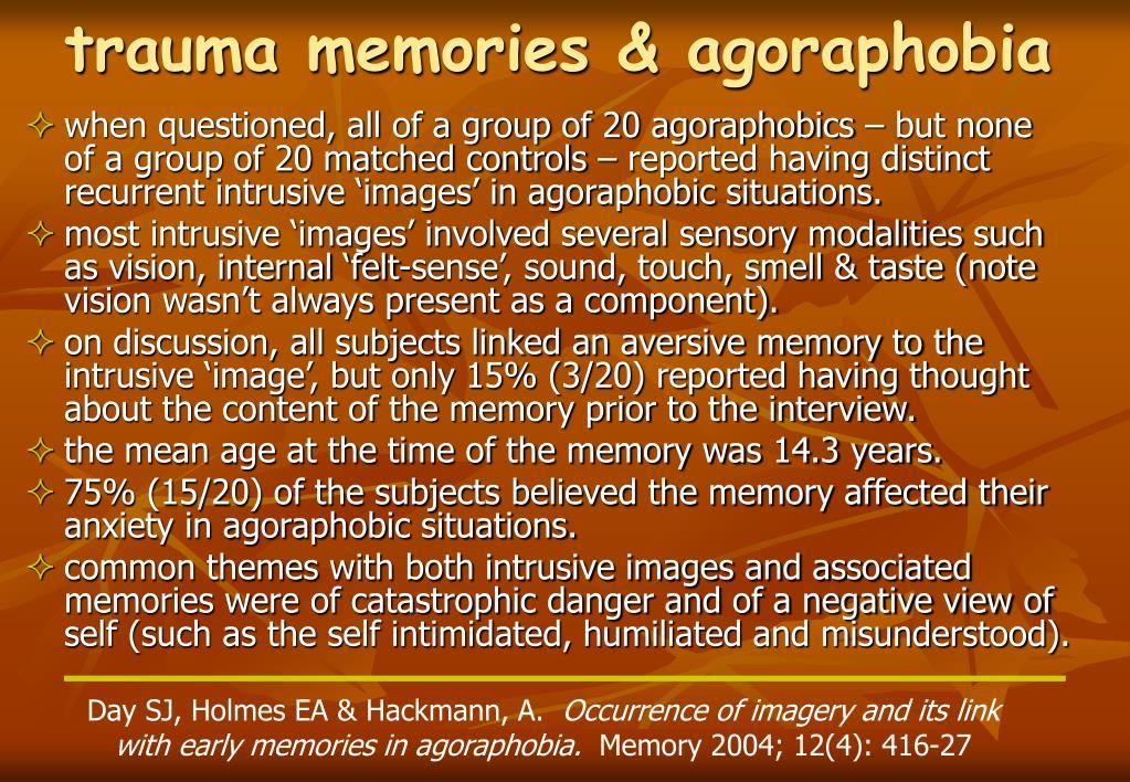 trauma memories & agoraphobia