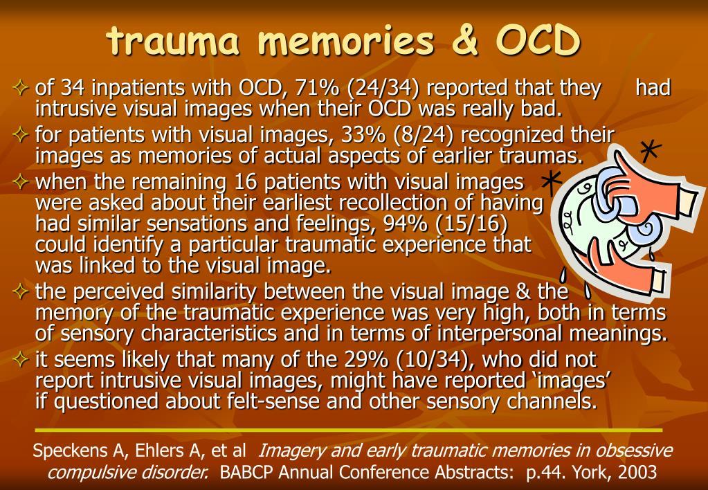 trauma memories & OCD