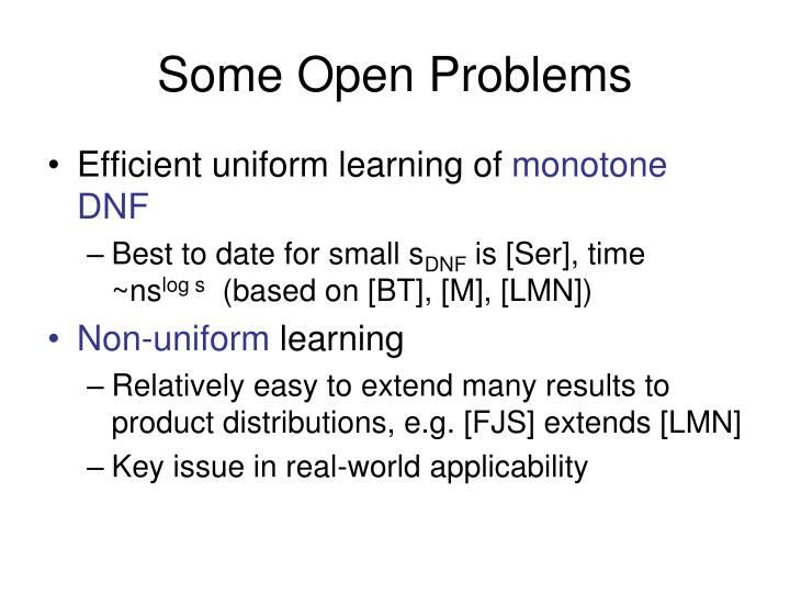 Some Open Problems