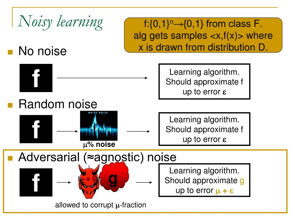 Noisy learning