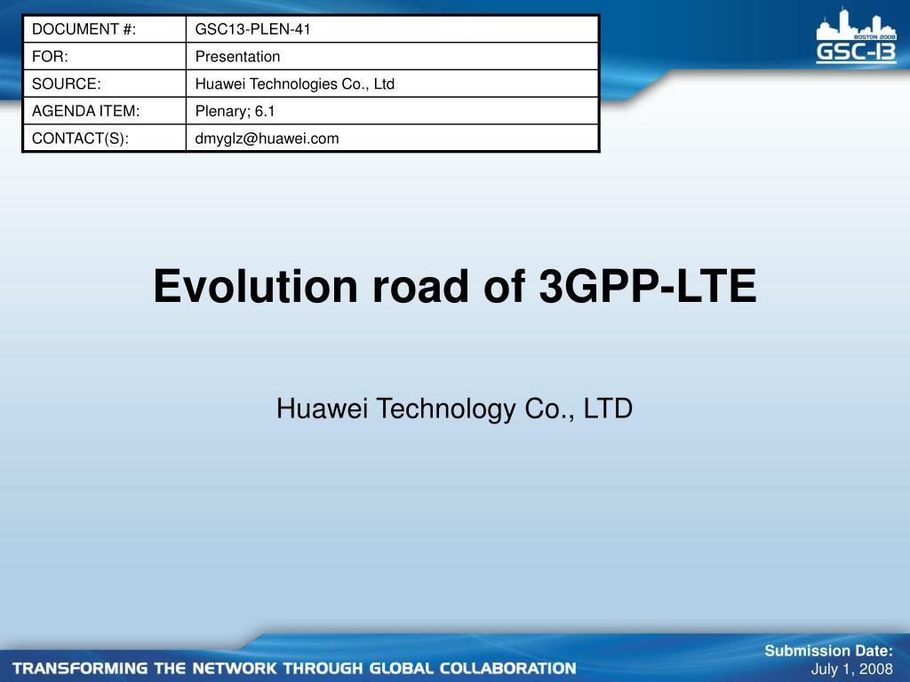 evolution road of 3gpp lte l.