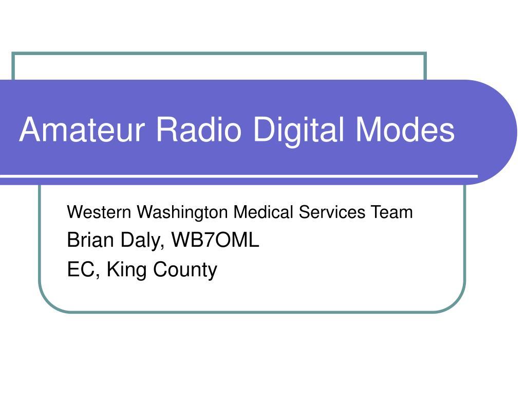 amateur radio digital modes l.