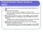 packet bulletin board systems bbs