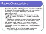 packet characteristics