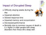 impact of disrupted sleep
