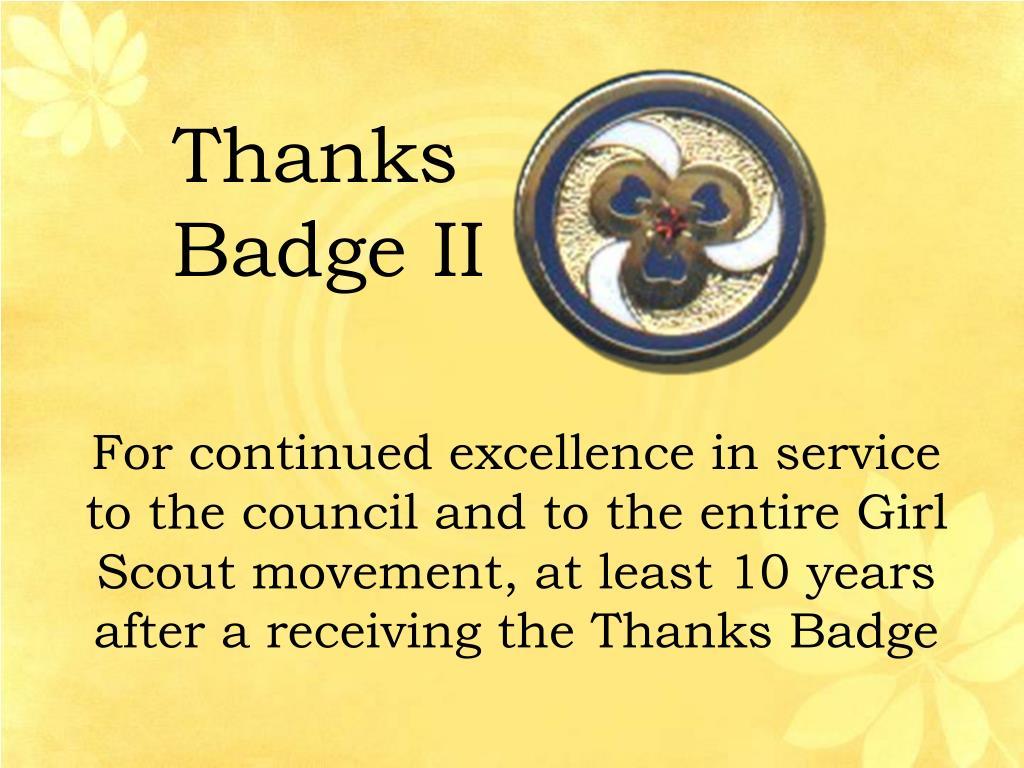 Thanks Badge II