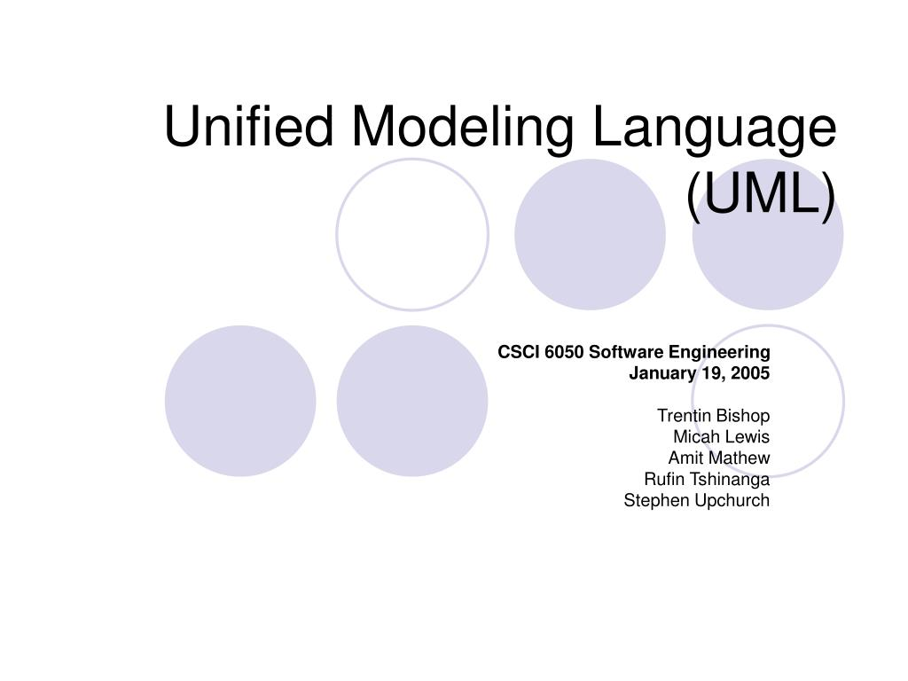 unified modeling language uml l.