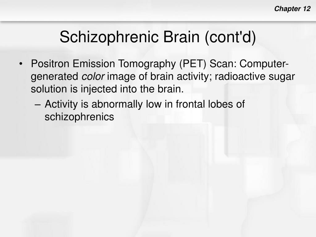 Schizophrenic Brain (cont'd)