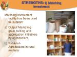 strengths 6 matching investment