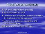 profile draper laboratory