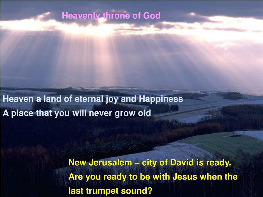Heavenly throne of God