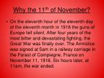 why the 11 th of november