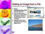 adding an image from a file
