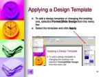 applying a design template