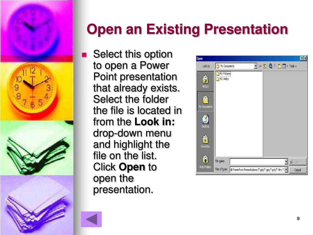 Open an Existing Presentation
