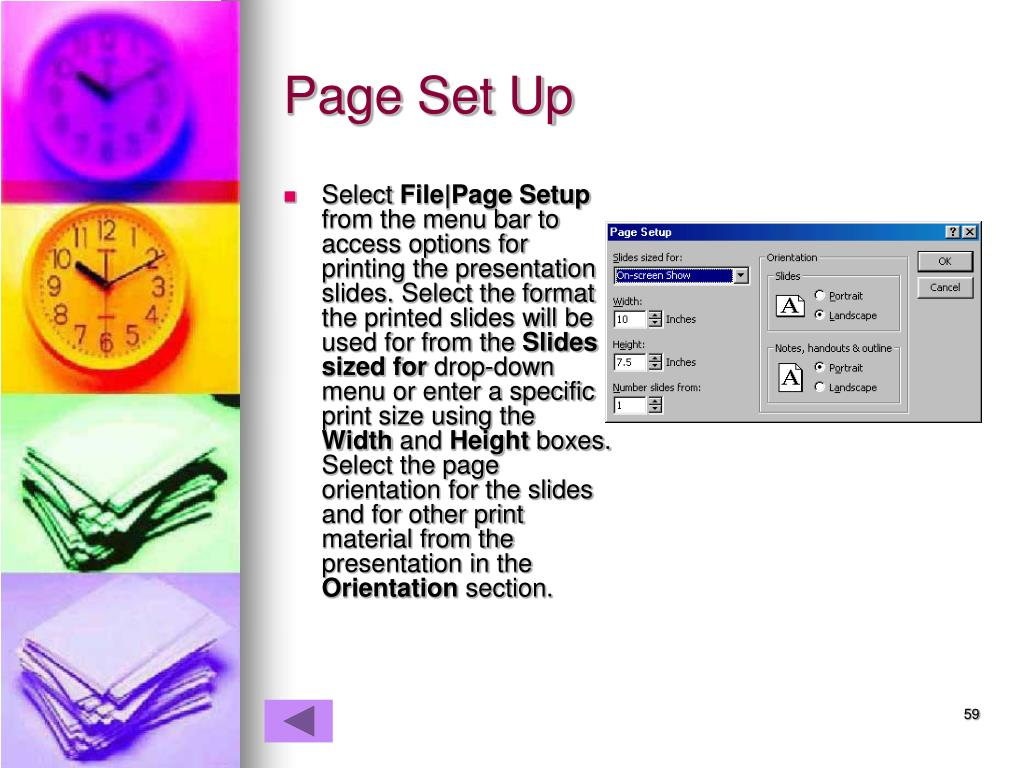 Page Set Up