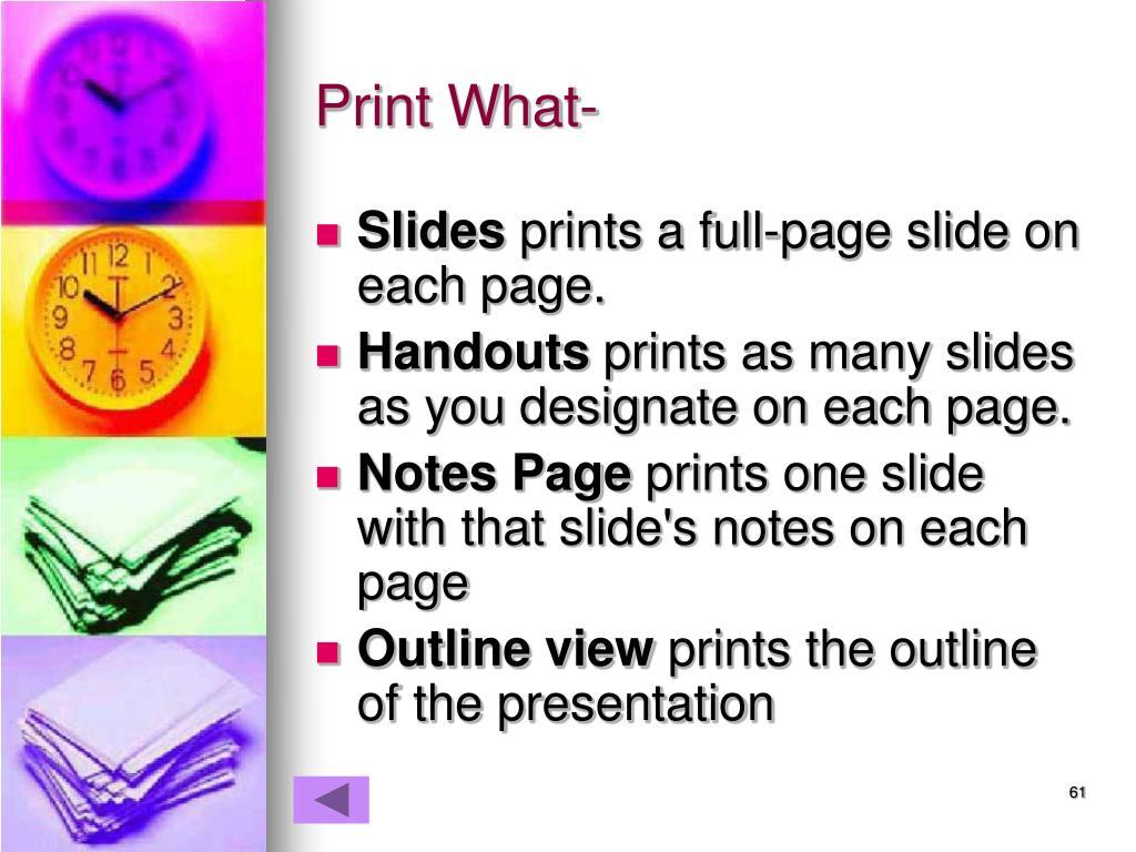 Print What-