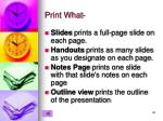 print what