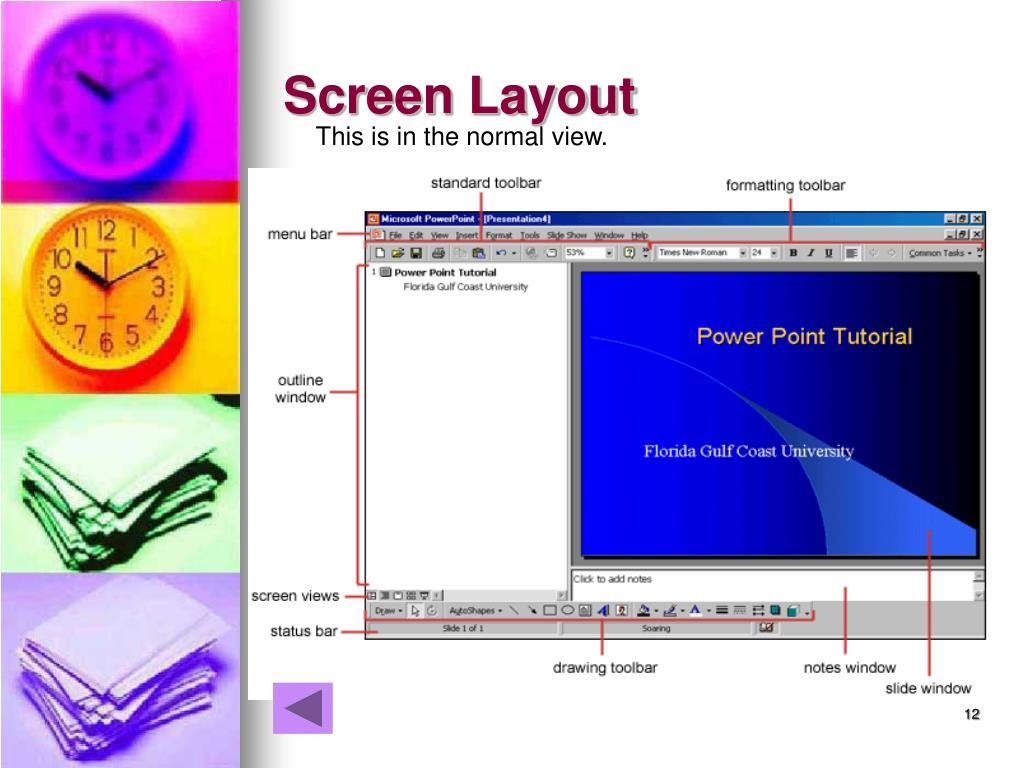 Screen Layout