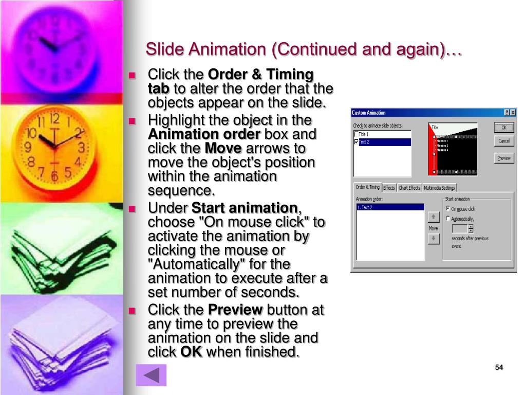 Slide Animation (Continued and again)…