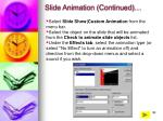 slide animation continued