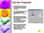text box properties