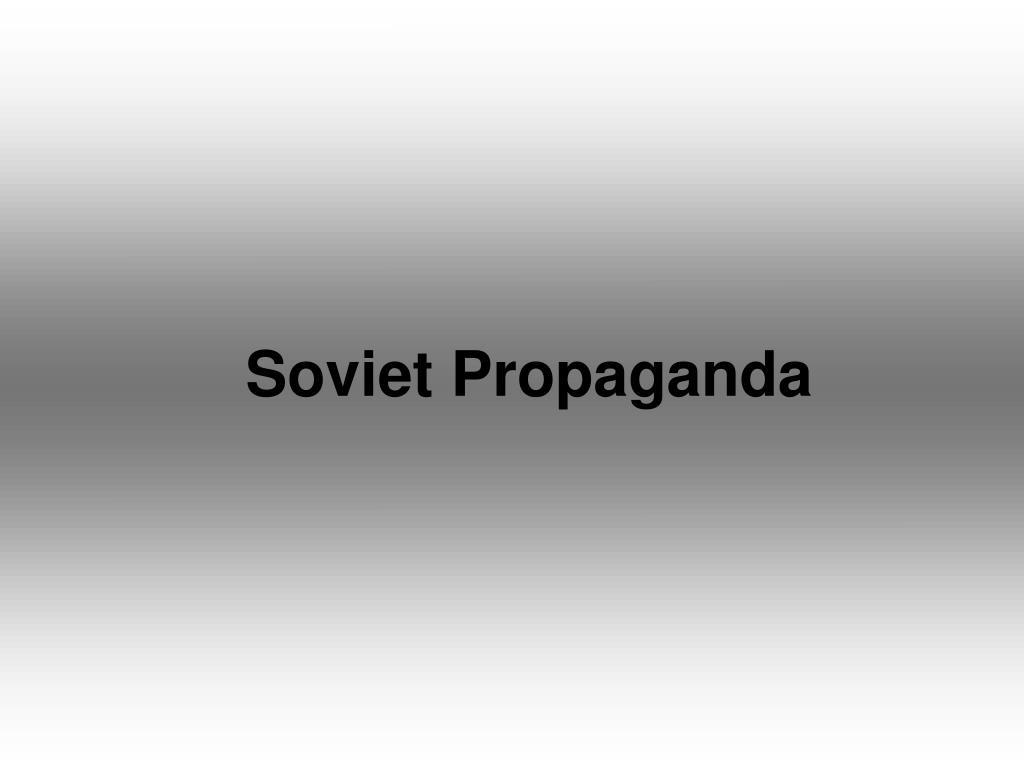 soviet propaganda l.