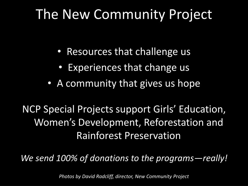 the new community project l.