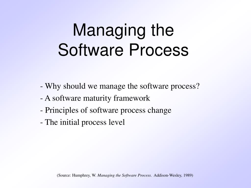managing the software process l.