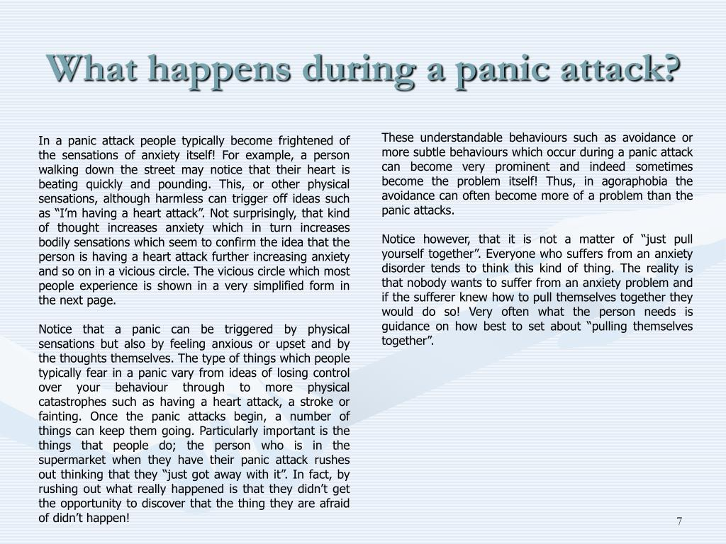 What happens during a panic attack?