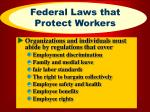 federal laws that protect workers