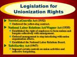 legislation for unionization rights