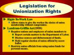 legislation for unionization rights17