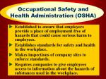 occupational safety and health administration osha