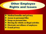 other employee rights and issues26