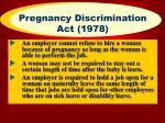 pregnancy discrimination act 1978