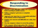 responding to discrimination