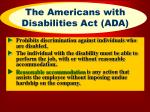 the americans with disabilities act ada